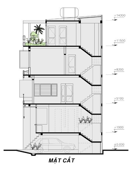 thiết kế nhà phố mặt tiền 7m đẹp